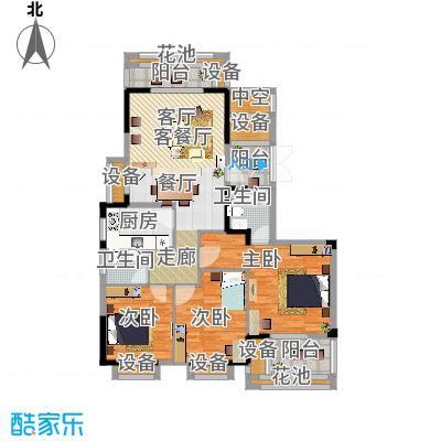雅仕轩五期3房2厅2卫143.56平米三房户型 - 副本