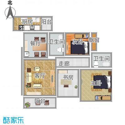 80平两室一厅
