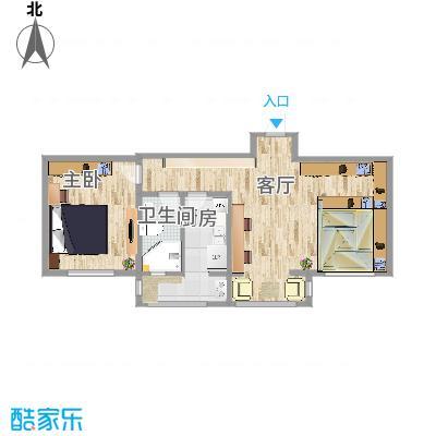 青年公寓第二方案平面图