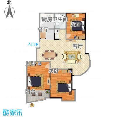 名桂坊125方三室两厅 - 副本
