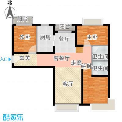 金融街・融汇117.00㎡E户型3室2厅2卫 - 副本 - 副本