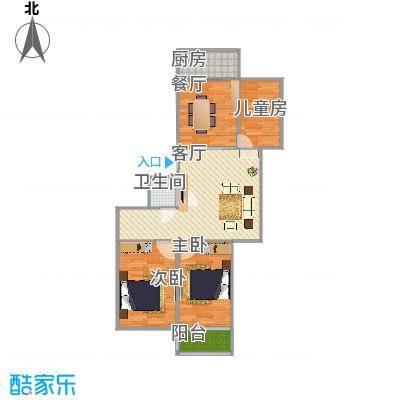 廊坊-常青家园户型图-三室两厅 - 副本