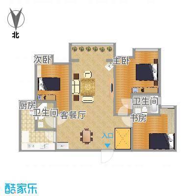 天伊阁137方A1三室两厅