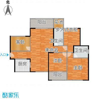 九州丽景苑135平H户型三室两厅两卫