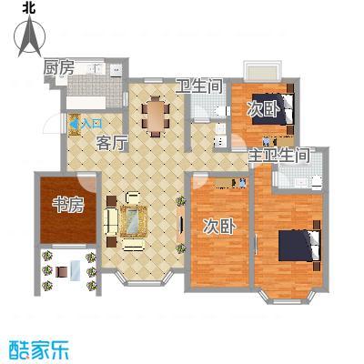 海滨园170方洋房平层四室两厅最初
