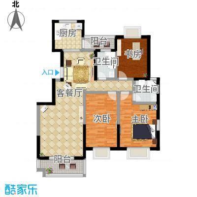 启迪书香逸居3号楼B户型3室2厅2卫-副本-副本