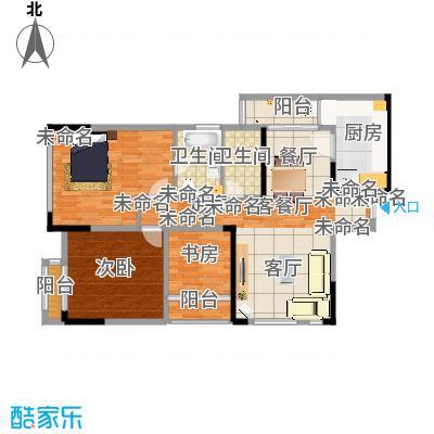 北城国际中心95.19㎡户型2室1厅2卫1厨-副本