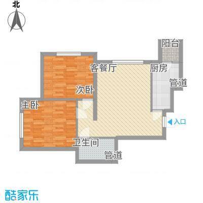 融科钧廷88.00㎡二期2K户型2室2厅1卫1厨