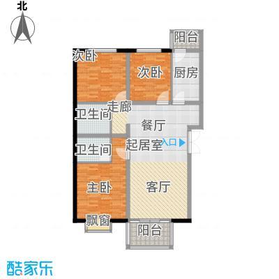 花香小镇118.00㎡E户型3室2厅1卫1厨