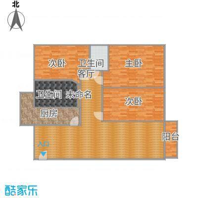鹏华香域花园135方05户型三室两厅-副本