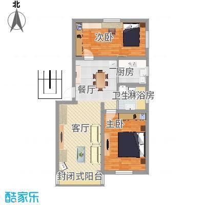 绿梅公寓闵行区罗阳路111弄3号301室户型图 - 副本