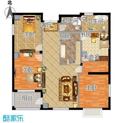 富士庄园三期樱花墅380.00㎡独栋、双拼别墅二层户型5室3厅5卫 - 副本