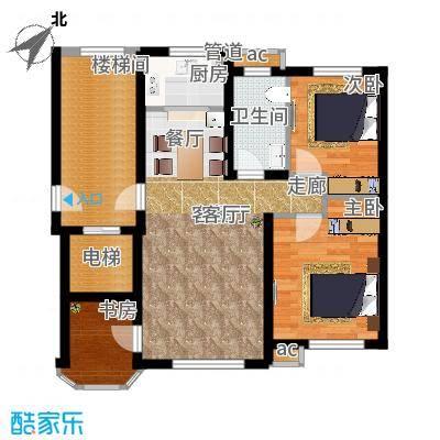 欧尚广场90.00㎡B8号楼C2户型90㎡三室两厅一卫户型3室2厅1卫 - 副本