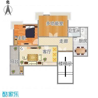 90方A1户型两室两厅 - 副本