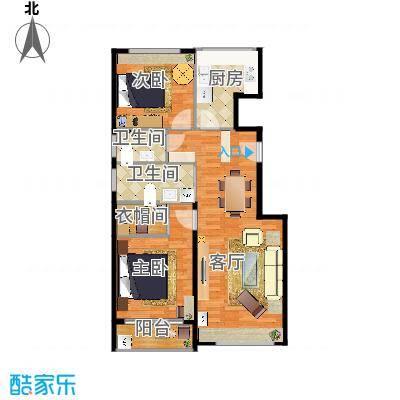tai司女士朝阳柏林爱乐二手房104㎡半包整体装修方案2的复制方案
