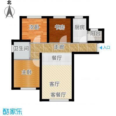 TBD云集中心99.98㎡A户型3室2厅1卫 - 副本