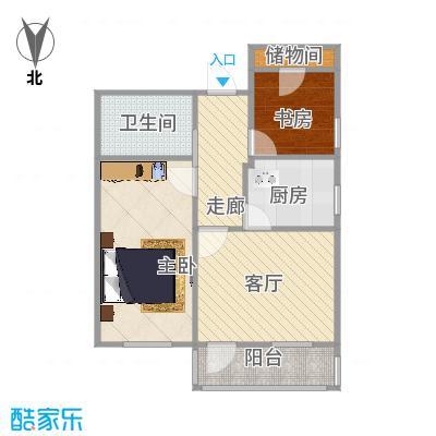 龙翔路小区63方两室一厅的户型图 - 副本