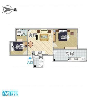 88平两室两厅
