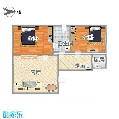 两室一厅南北通透