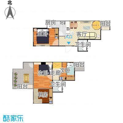 顶层跃层两室一厅-20150408