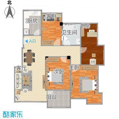 基本型4室2厅-大书房