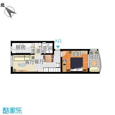 盘龙山庄62平米带阁楼(一楼)-副本
