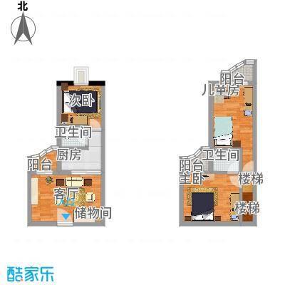 华清园74.32㎡户型