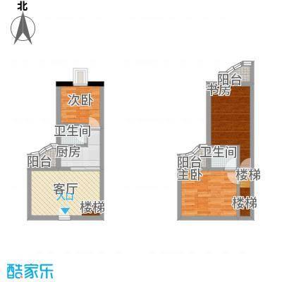 华清园74.32㎡户型-副本