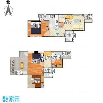 顶层跃层两室一厅-20150410