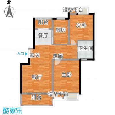 万源城逸郡100.00㎡房型: 二房; 面积段: 100 -110 平方米; 户型 - 副本-副本