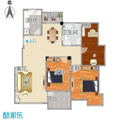 融合型3室2厅-大书房