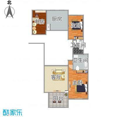 万国公馆138平米三室两厅两卫-魏