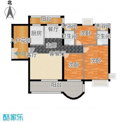 亿泉尚园户型3室1厅2卫1厨-副本