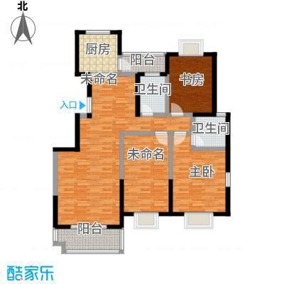 启迪书香逸居3号楼B户型3室2厅2卫