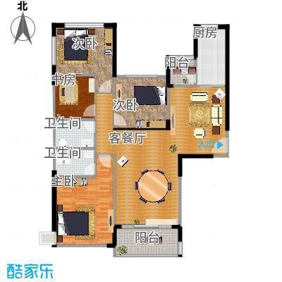 恒大翡翠华庭159.11㎡1号楼C户型4室2厅2卫-副本