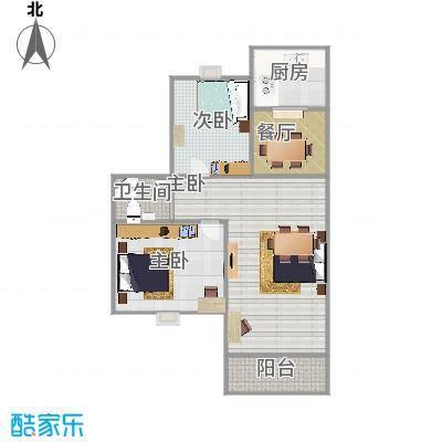 阳光水岸98平两室两厅-副本