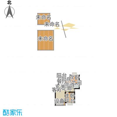 秀康新城康桥宝邸83.00㎡面积8300m户型-副本