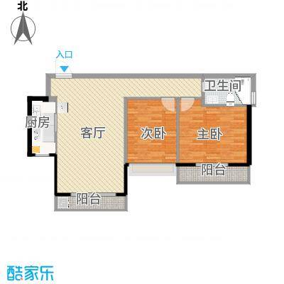 南向两房-内墙尺寸