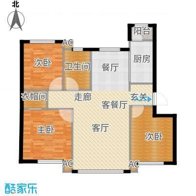 凯旋城户型3室1厅1卫1厨-副本