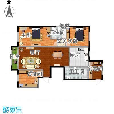 舰艇学院A户型二室一厅-副本