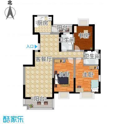 启迪书香逸居3号楼B户型3室2厅2卫-副本