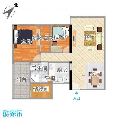 华敏大厦96房两室两厅(改造后3)