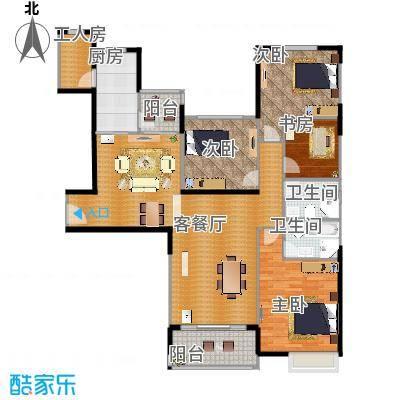 恒大翡翠华庭171.86㎡1号楼A户型5室2厅2卫-副本