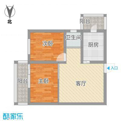 马南里小区的塔楼两居户型图-副本-副本
