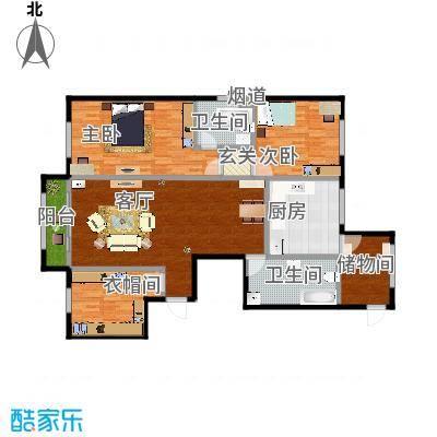 舰艇学院A户型二室一厅-刘敏