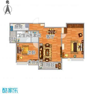 国泰润园104方B户型两室两厅-副本