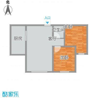 胜源・滨河新城88.4方C户型两室两厅一卫