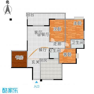 锦绣江南二期户型3室1厅2卫1厨-副本