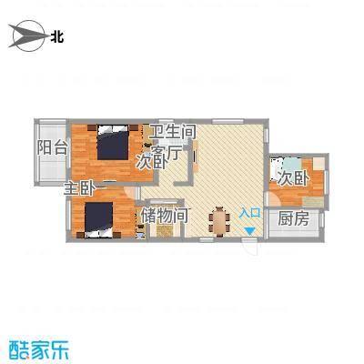 A户型3室2厅1卫1厨115平-副本