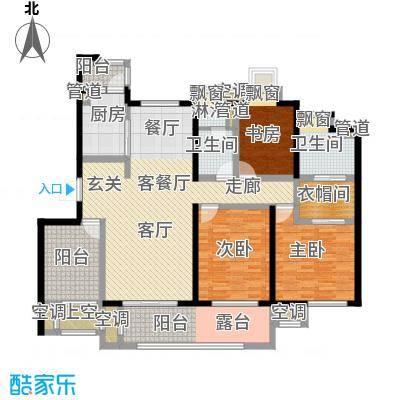 中新翠湖B户型3室1厅2卫1厨